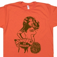 Go Cleveland Browns T Shirt Cheerleader