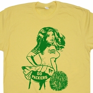 Go Green Bay Packers T Shirt Vintage Green Bay Packers Shirt Cheerleader