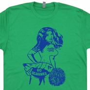 Go Seattle Seahawks T Shirt Cheerleader Vintage Seattle Seahawks Shirt