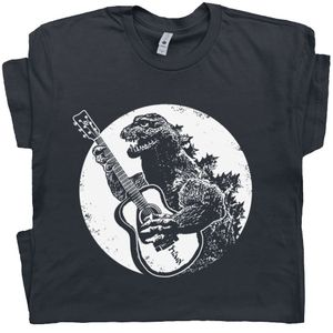Godzilla Playing Guitar T Shirt