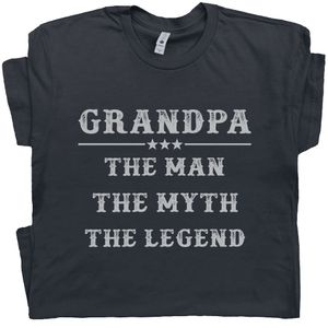 Grandpa T Shirt The Man The Myth The Legend