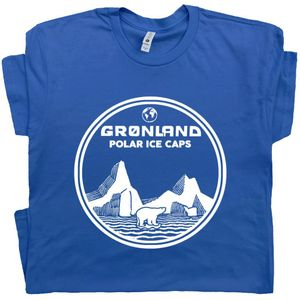 Greenland T Shirt Polar Ice Caps Tee