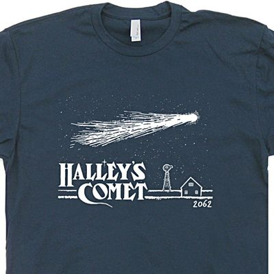 Halley's Comet T Shirt Vintage Nasa T Shirt Cool Astronomy Graphic Tee