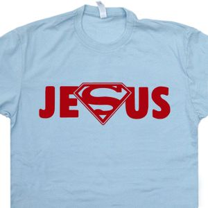 Jesus Superman Logo T Shirt Super Jesus T Shirt Cool Christian Shirts