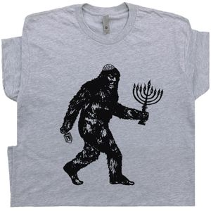 Jewish Bigfoot T Shirt Funny Hanukkah Tee