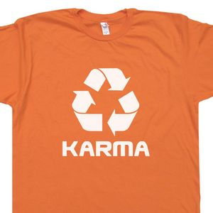 Karma Logo T Shirt Recycle Symbol Graphic Tee