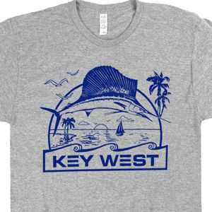 Key West T Shirt Florida Keys Marlin