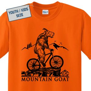 Kids / Youth Mountain Bike T Shirt Mountain Goat T Shirt