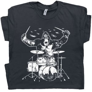 King Kong Playing Drums T Shirt
