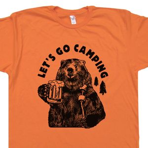 Lets Go Camping T Shirt Funny Camping Hiking Tee