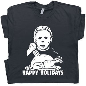 Michael Myers Carving Turkey T Shirt