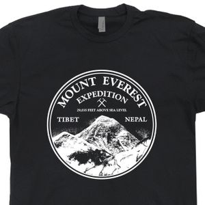 Mount Everest T Shirt Mountain Climbing Shirt Rock Climbing Shirt