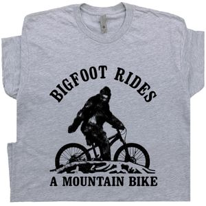 Funny Mountain Bike T Shirt Bigfoot Rides