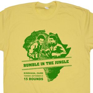 Muhammad Ali T Shirt Rumble In The Jungle Poster Ali vs Foreman TShirt Vintage Boxing Tee