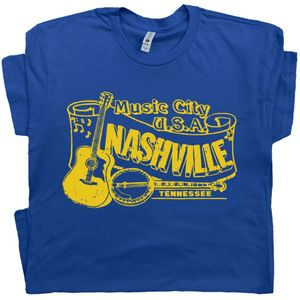 Nashville T Shirt Bluegrass Banjo Graphic Tee