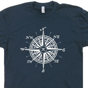 Nautical Compass T Shirt Vintage Sailing T Shirts US Navy Graphic Tee