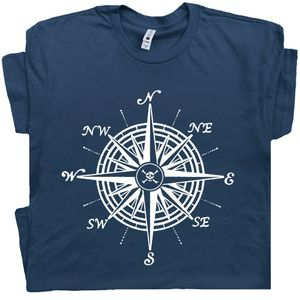 Nautical Compass T Shirt Vintage Sailing Tee