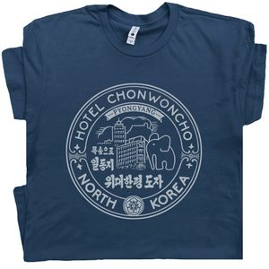 North Korea T Shirt Vintage Hotel Graphic