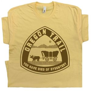 Oregon Trail T Shirt Funny 80s Gaming Shirt