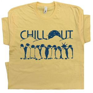 Penguins T Shirt With Funny Saying Chill Out