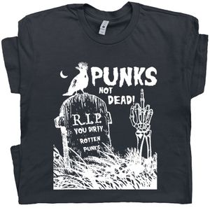 Punks Not Dead T Shirt Retro Punk Tee
