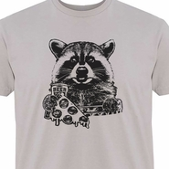 Raccoon T Shirt Pizza and Beer Shirt Funny Shirts Camping Shirt Vintage Graphic Tee Shirts