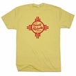 Santa Fe New Mexico T Shirt Flag Vintage Motel Hotel Shirts Travel Poster Graphic Zia Sun Symbol Shirt