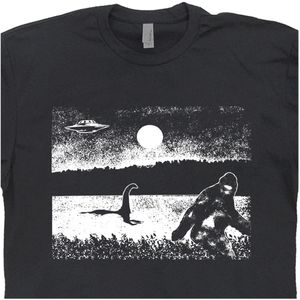 Bigfoot Nessie Ufo T Shirt Cryptozoology