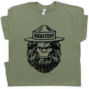 Squatchy T Shirt Smokey The Bear
