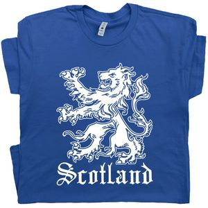 Scotland T Shirt Scottish Lion Crest Graphic Tee