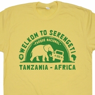 Serengeti National Park T Shirt Tanzania Africa Shirts Elephant Tee Vintage Zoo Animals African Safari