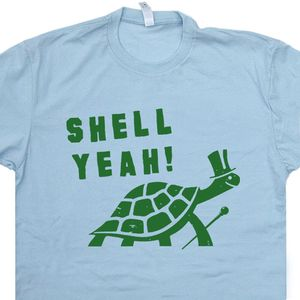 Shell Yeah T Shirt Funny Turtle Graphic Tee