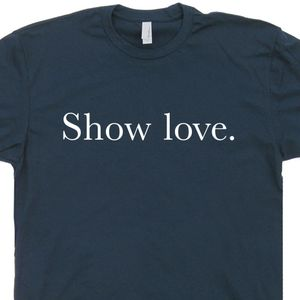 Show Love T Shirt Make Love Not War Shirt Peace Sign Tee