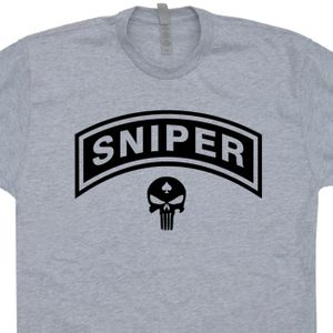 Marines Sniper T Shirt The Punisher Skull Shirt Vintage Military Shirt
