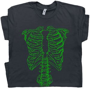Spinal Tap T Shirt Green Skeleton Tee