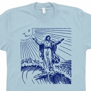 Surf Jesus T Shirt Vintage Surfing Graphic