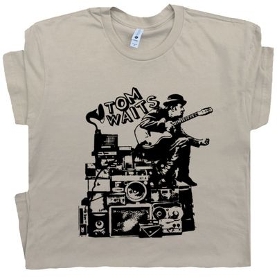 Tom Waits T Shirt Vintage Rock Tee