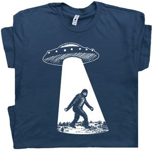 Bigfoot Ufo Abduction T Shirt