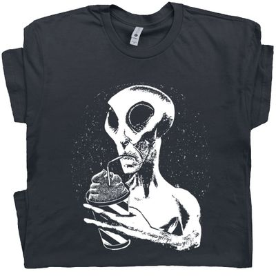 Alien Drinking Slurpie T Shirt