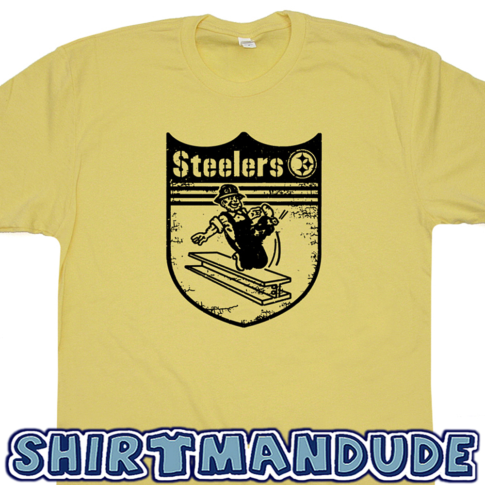 fde23e3d Pittsburgh Steelers T Shirt Retro Graphic Pittsburghs Steelers Logo Shirt