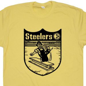 Vintage Pittsburgh Steelers Shirt Retro Pittsburghs Steelers Logo T Shirt Graphic Tee