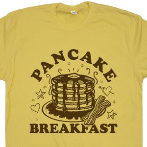 Pancake Breakfast T Shirt Funny Breakfast Tee Shirts Bacon Shirts