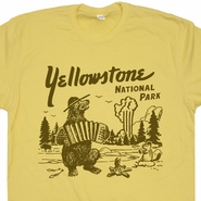 Yellowstone National Park T Shirt Wyoming Grand Tetons Shirts Old Faithful Vintage Hiking Camping Tees