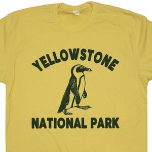 Yellowstone Penguin T Shirt Yellowstone National Park T Shirt Funny T Shirts
