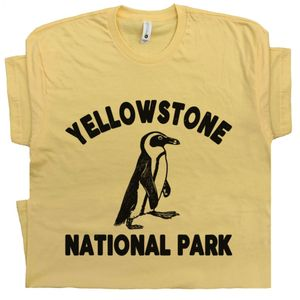Yellowstone Penguin T Shirt Sarcastic Tee