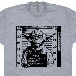 Yoda Mug Shot T Shirt Vintage Star Wars Graphic Tee