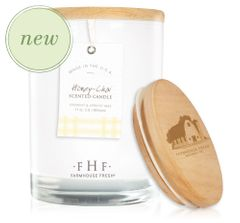 Honey-Chai Candle with Wooden Lid