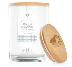 Midnight on the Dock Candle with Wooden Lid