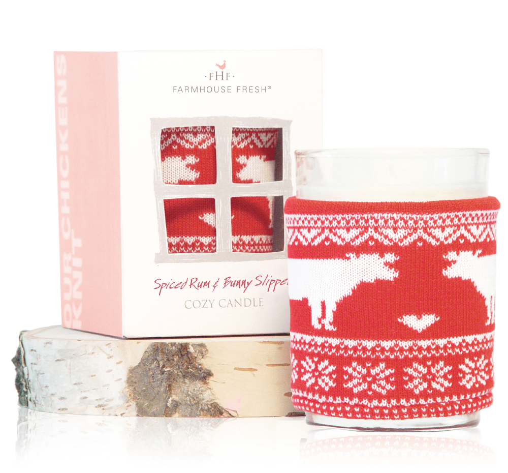 f8d9a665bbd Spiced Rum & Bunny Slippers Cozy Sweater Candle