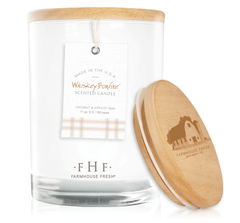 Whiskey Bonfire® Candle with Wooden Lid